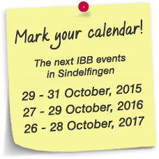 "Dates for the next ""IBB"" in Sindelfingen"